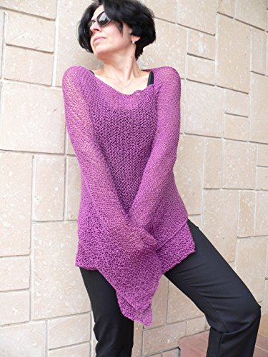 Purple merlo acrylic poncho #008A by PassionMK