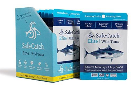 Safe Catch Elite Wild Tuna 3 oz Pouch, 12 pack