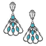 Jennifer Nettles Sterling Silver Turquoise Chandelier Earrings