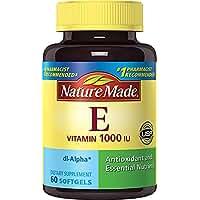 Nature Made Vitamin E 1,000 IU Softgels, 60 ct