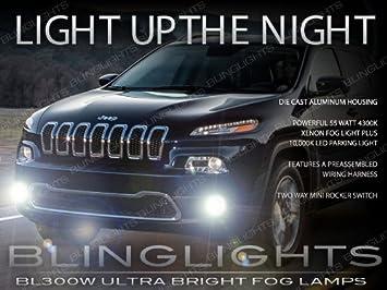 2014 2015 2016 Jeep Cherokee Xenon Fog Lamp Driving Light Kit Jeep Cherokee Headlight Wiring Harness Install on