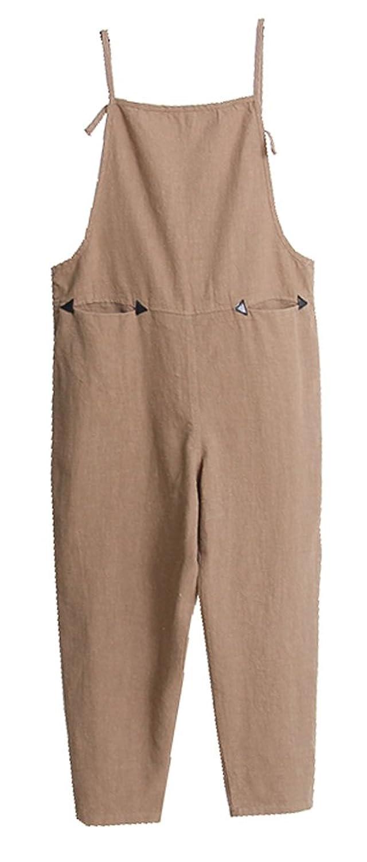 CYSTYLE Damen Retro Latzhose Overalls Jumpsuits Sommerhose