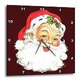 3dRose Large Happy Santa Claus Face Cartoon – Wall Clock, 13 by 13-Inch (dpp_172752_2) Review