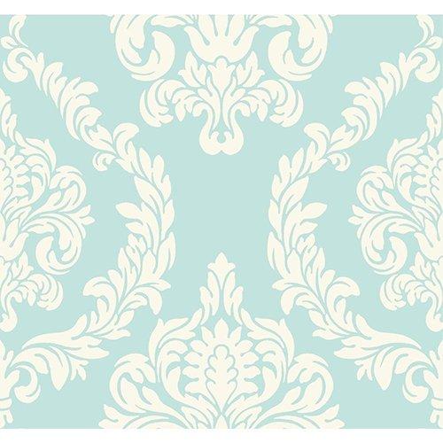 Soft Teal ND7057 Aristocrat Wallpaper -  York Wallcoverings