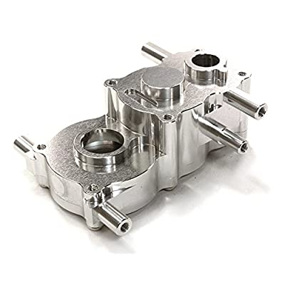 Integy RC Model Hop-ups C26507SILVER Billet Machined Center Gear Box for HPI 1/10 Scale Crawler King