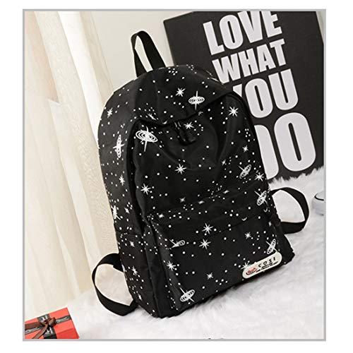 School Popularidad Star De Commuter Yellow Bag Damas Gran White Cosmos Exterior Weatly Capacidad Ligero Espacio Peso color Mochila Rq6fwA5