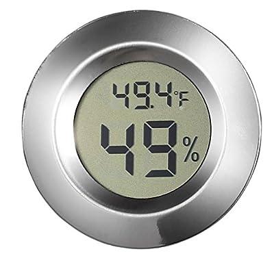 Visol Modern Small Circular Digital Hygrometer