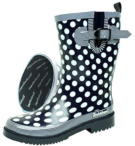 BOCKSTIEGEL® DORIN Mujer - Botas de goma con estilo | Tallas: 36-42 Dk-blue/multi