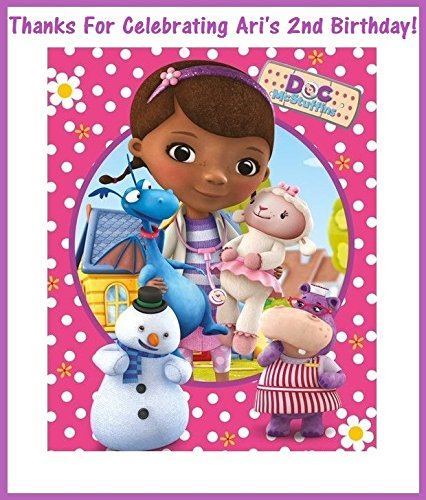 12 Doc McStuffins Stickers, party supplies, Bag labels, Decorations, Birthday, Treat Bag Labels, Crafts