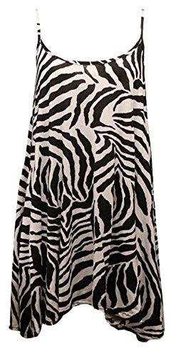 Forever Women's Scoop-Neck Animal-Print Sleeveless Short Maxi Dress, Zebra Print, 18/20 Plus Zebra Print Sleeveless Dress