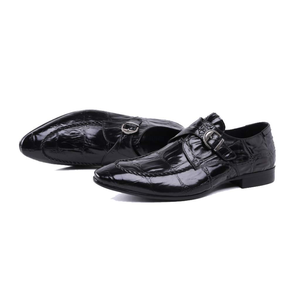 NIUMT Lederschuhe, Britischer Stil, Spitz, Herren Lederschuhe, NIUMT Business, Mode, Mode, Atmungsaktiv schwarz f0da8d