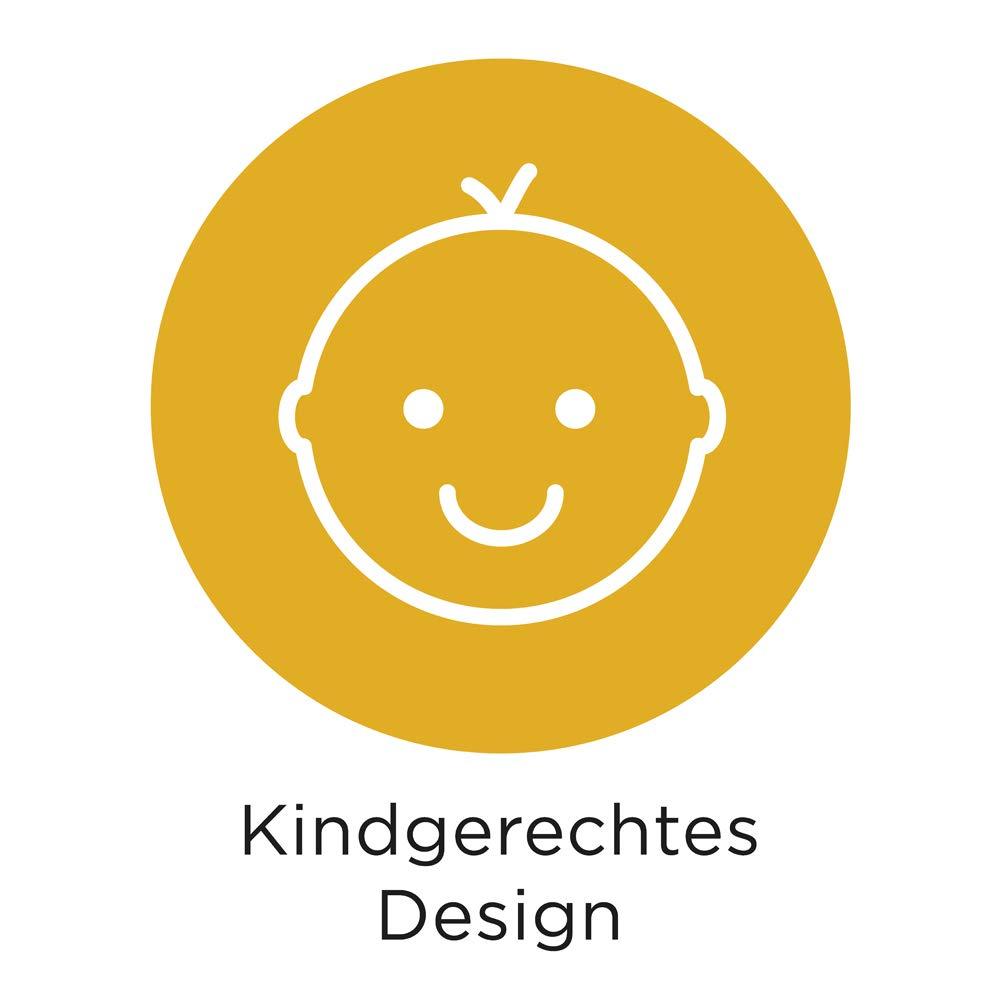 Julica Design Messlatte Kind Kindermesslatte zum Beschriften aus Papier Totem in mint