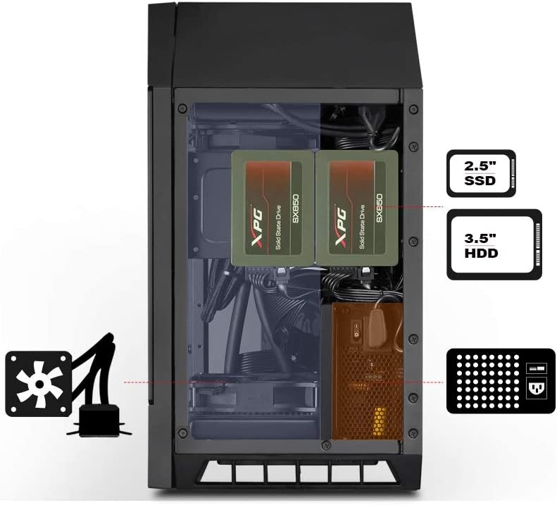 SilverStone Technology Mini-ITX Computer Case with Tempered Glass and Vertical Design LD03B