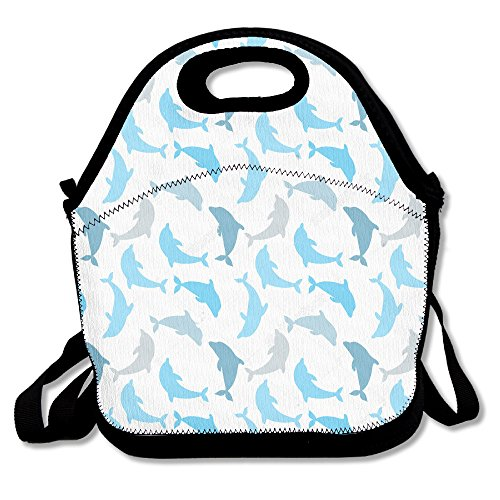 MAGGIE SALAS Cute Dolphins Classical Bag Lunch Bags Bags Travelling Bag Picnic Bag Storage Bag Backpack For Children Diagonal Bag - Dolphin Hours Mall