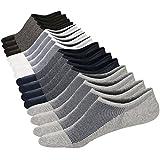 M&Z Mens No Show Low Cut Casual Pure Color Mesh Knit Non-Slide Socks(8Pack)