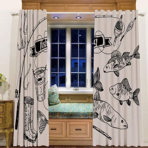Finel Kids Curtains for Living Room Bedroom Window Curtains Baby Room,58