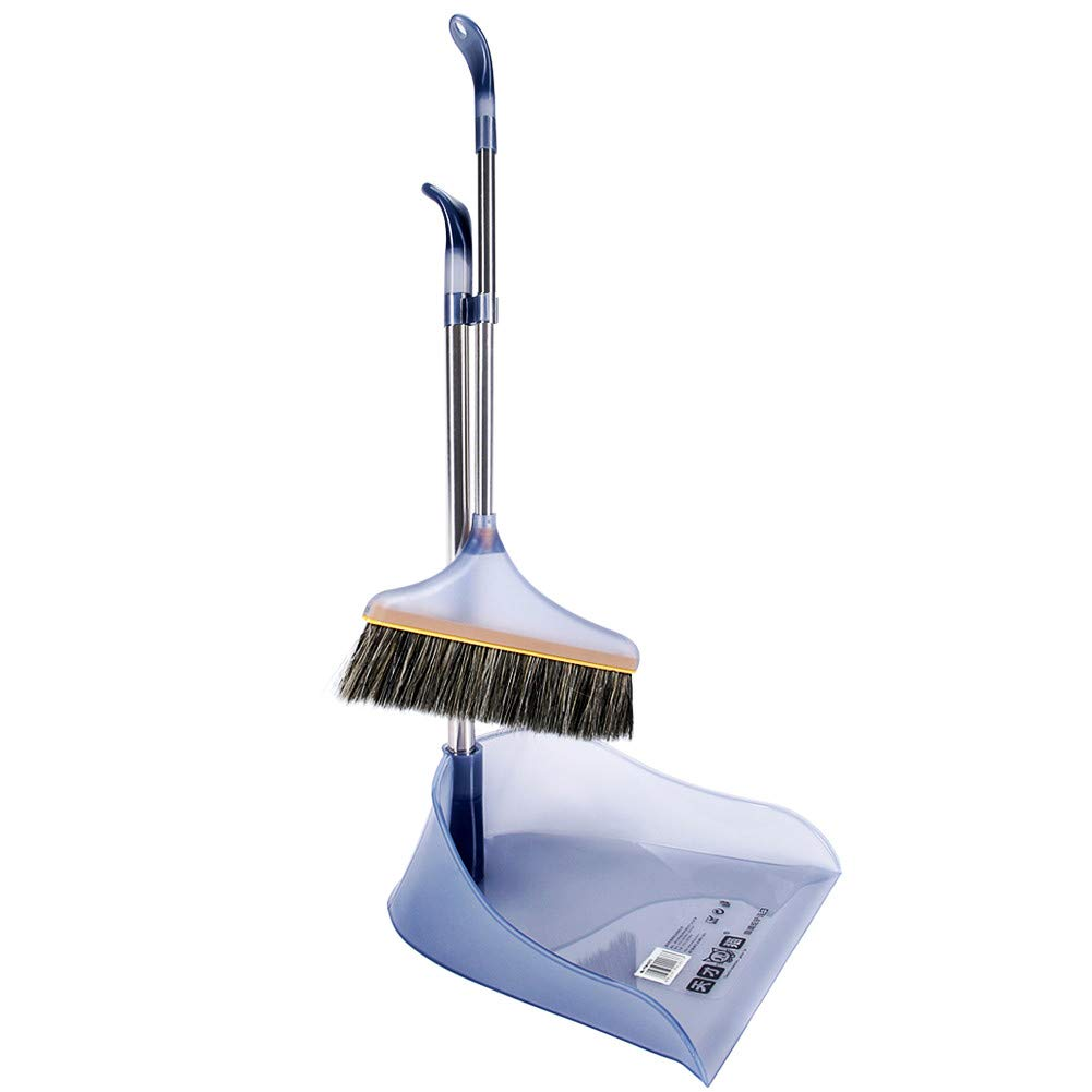 Sonmer Household Practical Cleaning Broom and Dustpan Set (Grey)