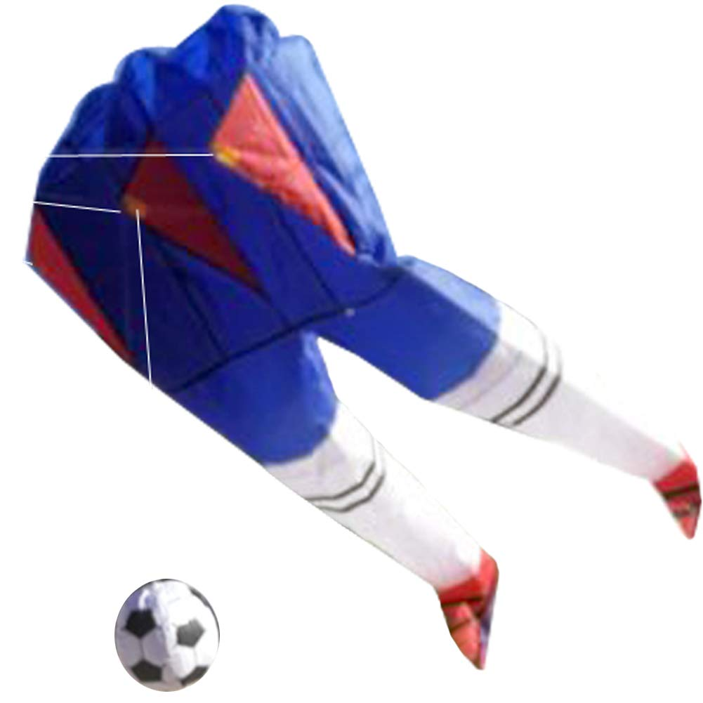 TINTON LIFE 面白い ソフト パラフォイル アウトドア 3D レッグ 大きな凧 ハンドルと紐付き 2DJ21WJFZ1-2 B07NXXQ43D Navy With Football