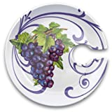 Product review for Epic 75-113 Purple Grape Cluster Motif Ceramic Appitizer Plate with Cup Holder