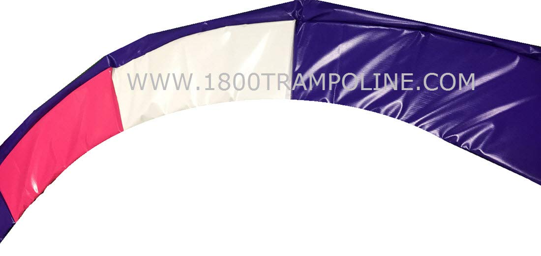 Family Store Network 12'6 Round Made in USA Deluxe Purple, Pink, and White Trampoline Pad Replacement