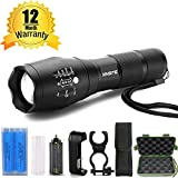 900 lumen lantern - Flashlight Set XML-T6,XINSITE CREE LED Super Bright High Lumen Adjustable Focus Torch Flashlight, with 2 Rechargeable 18650 Batteries - Battery Storage Case - Charger - Belt Holster - Bike Light Mount