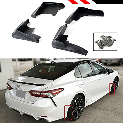 Cuztom Tuning Fits for 2018 Toyota Camry SE XSE Sport 4 Pieces Front & Rear Splash Guard Mud Flap Set