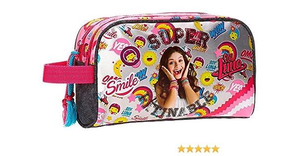 Neceser doble compartimento adaptable a trolley Soy Luna Smile: Amazon.es: Equipaje