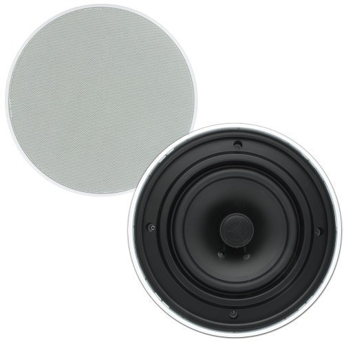 Theater Solutions TSQ670 6.5-Inch Install Quick 70 Volt In Ceiling Speaker, White by Theater Solutions