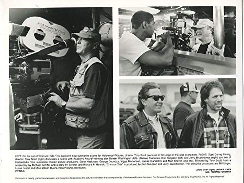 Crimson Tide 1995 Tony Scott Denzel Washington Don Simpson Press Photo MBX - Scott Photo Simpson