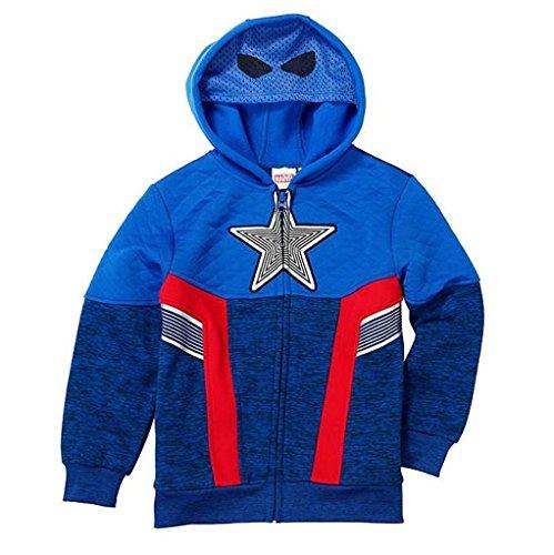 kids captain america jacket - 2