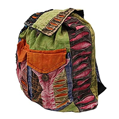high-quality Recycled Hippe Hobo Bohemian Razor Cut Bag Backpack Hand Made Nepal