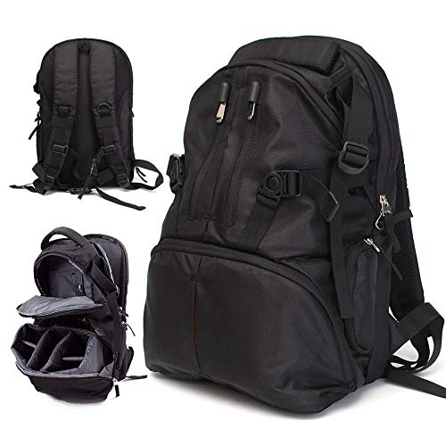 Shentesel Professional Waterproof Backpack Photography Package SLR Camera Laptop Bag Pouch - Black by Shentesel (Image #5)