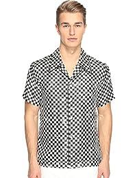 Mens Distressed Check Shirt