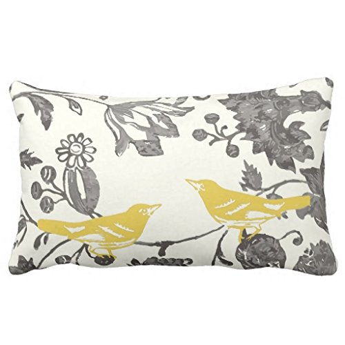 Yellow Floral Pillow - 7
