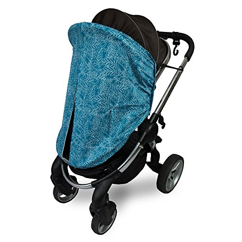 Outlook Universal Cotton Sleep Eazy Stroller Cover (Teal Fern Leaf) by Outlook 2010 (Image #2)