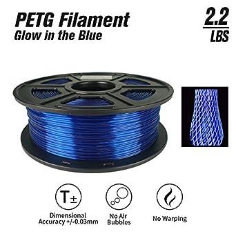 Amazon.com: SunTop PETG Filamento de impresora 3D azul ...