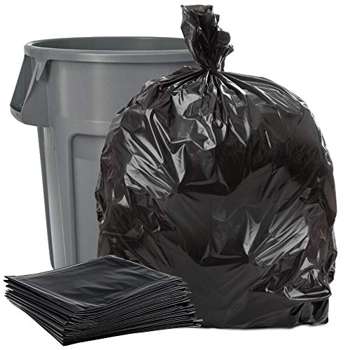 Plasticplace Black 40-45 Gallon Trash Bag, 40x46, 1.5 Mil, 100 Bags Per Case ()
