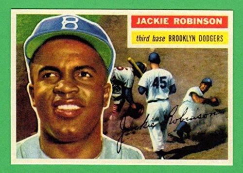Jackie Robinson 1956 Topps Baseball Reprint Card - 1956 Baseball Topps