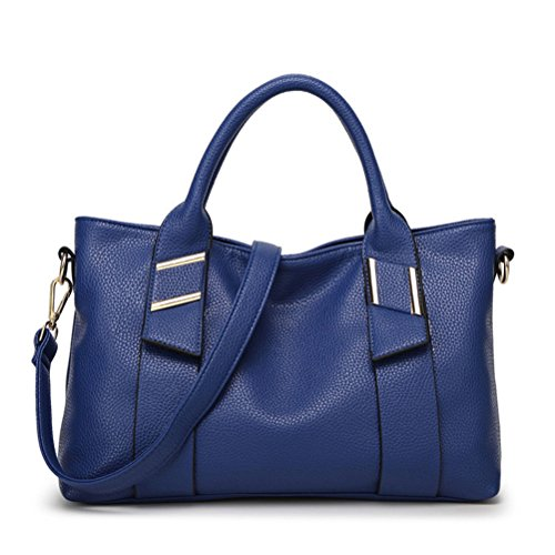 Bleu Messager d'épaule Portable Honeymall Main à Gaufré Sauvage en Cuir Mode Sacs Sac Simple O7qOvR