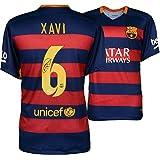Xavi Hernandez Barcelona Autographed Red Jersey - Fanatics Authentic Certified - Autographed Soccer Jerseys