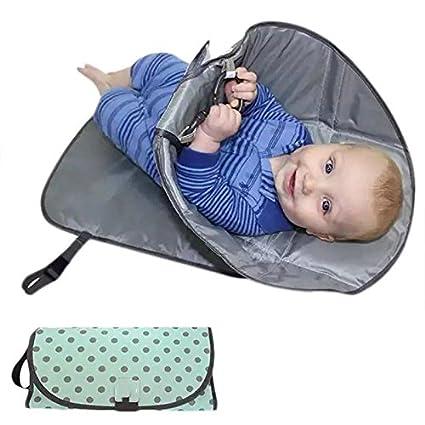OurLeeme Pañal de bebé a prueba de agua Clean Changing Pad 3 en 1 Pañal de