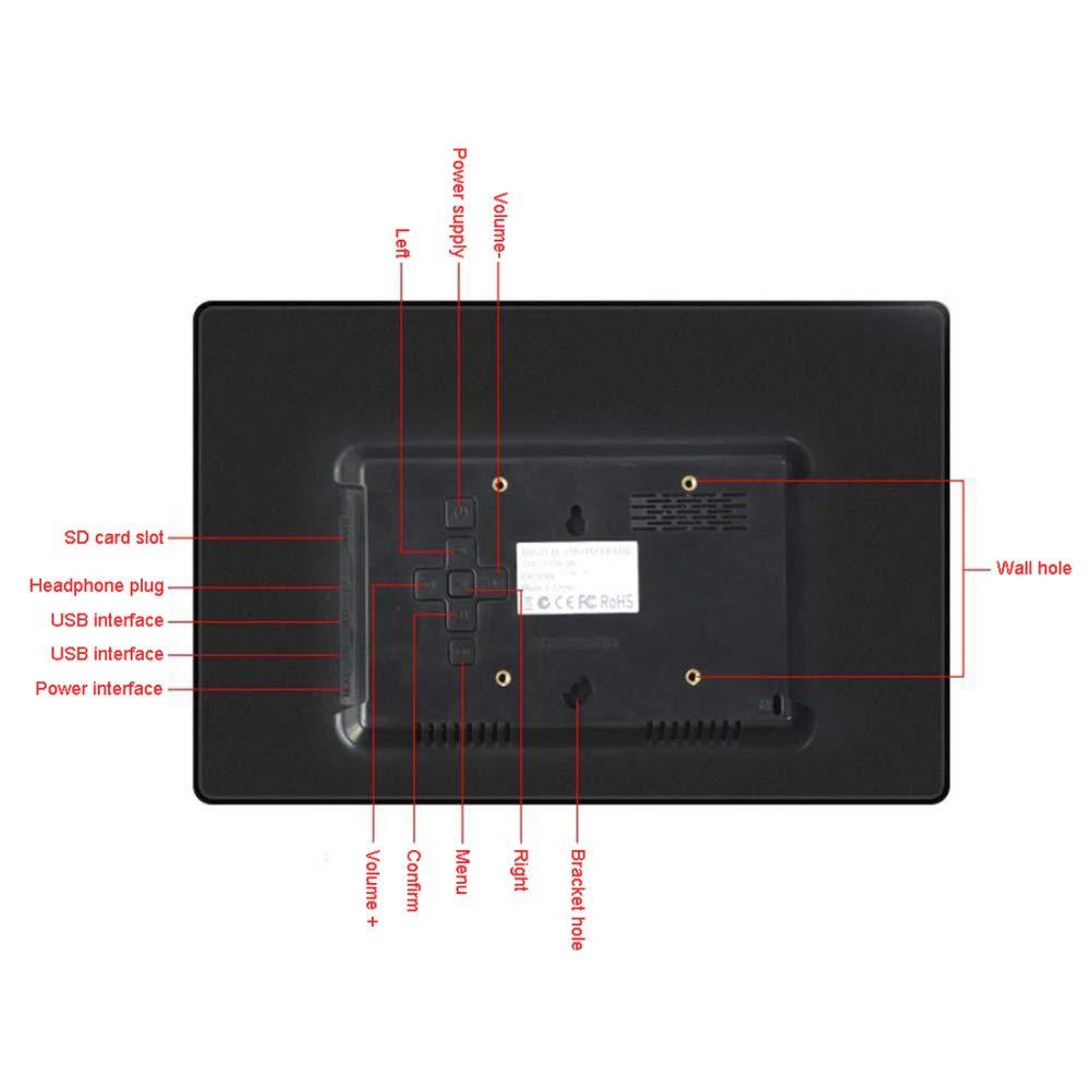 FLYWM Digital multifunción electrónica Foto Marco 12.1 Pulgadas álbum electrónico Cuadro Marco Regalo portaretrato: Amazon.es: Hogar