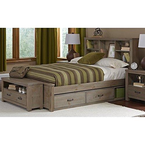 - Rosebery Kids Full Bookcase Bed in Driftwood