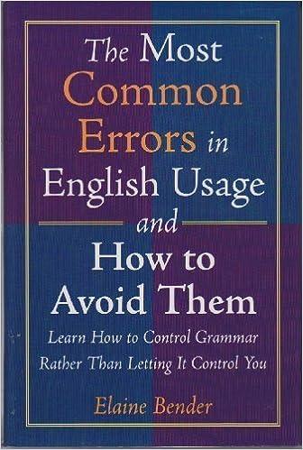 Common Errors In English Usage Ebook