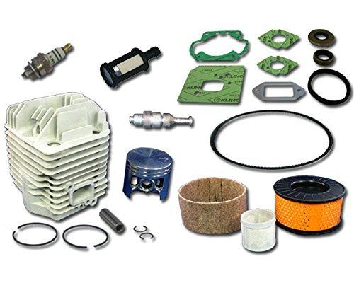 MowerPartsGroup Stihl TS460 Concrete Saw Rebuild Kit Includes Cylinder Piston Gasket Set Spark Plug Filter Belt Decompression Valve