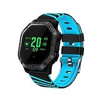 FuriGer Heart Rate Monitor Watch, Smart Watch Wristband Heart Rate Monitor Activity Fitness Tracker Pedometer Smart Wristband for Men Women Kids(Blue)