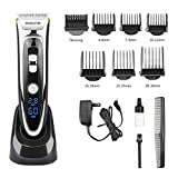 OOCOME Hair Clipper Trimmer Cutting Grooming Kits for Men and Kids Pro Waterproof Razor Rechargeable Hair Remover Shaver with LED Display(13 pieces)