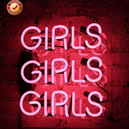 Neon Signs Girls Beer Bar Neon Light Pink Handmade Glass Neon Lights Sign for Bedroom Office Pub Hotel Recreation Room Wedding Party Wall Decor Night Light 12