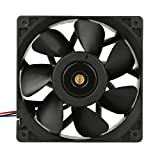 Hometom Computer Case Fans, 6000RPM Cooling Fan Replacement 4-Pin Connector For Antminer Bitmain S7 S9 (Black)