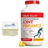 Vibrant Health - Joint Vibrance : Maintenance Of Healthy Joints 252 Tablets Bundle with Lumintrail Pill Case